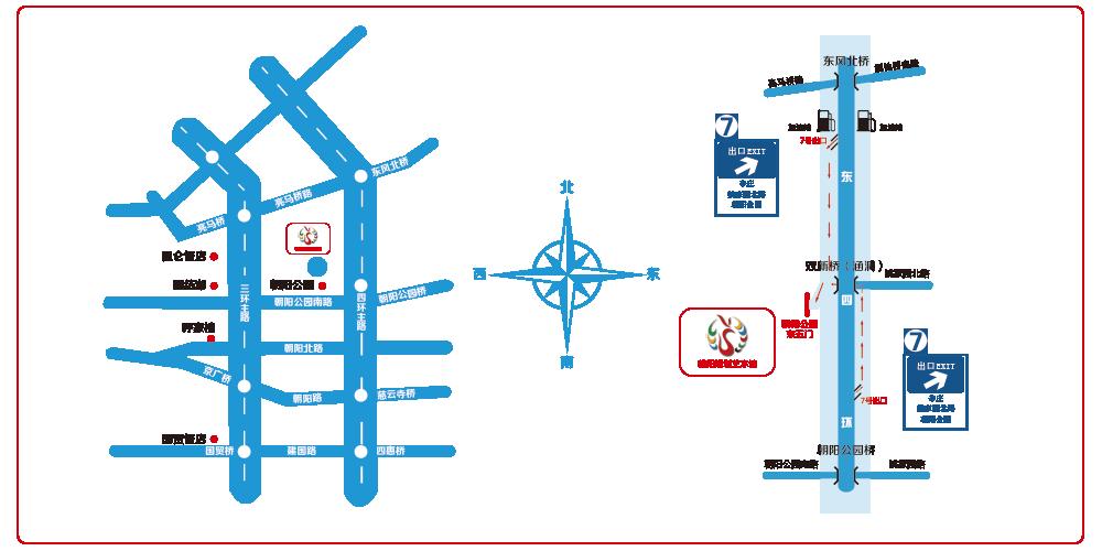 朝阳规划艺术馆路线图
